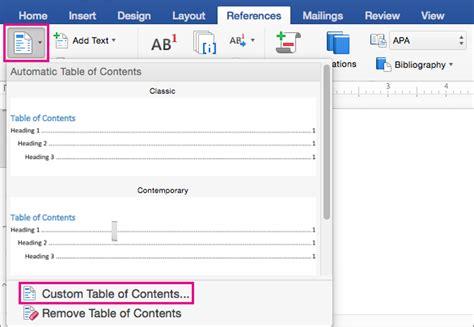 format tab untuk daftar isi memformat atau mengkustomisasi daftar isi di word 2016