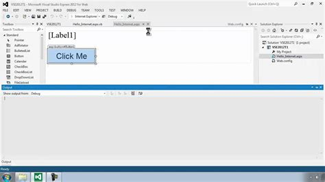 tutorial web visual studio 2012 visual studio express 2012 for web tutorial 2 fixing the