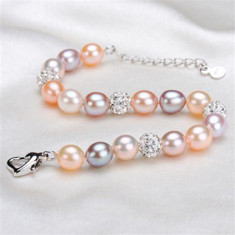 Handmade Pearl Bracelets - real multi freshwater pearl bracelet handmade