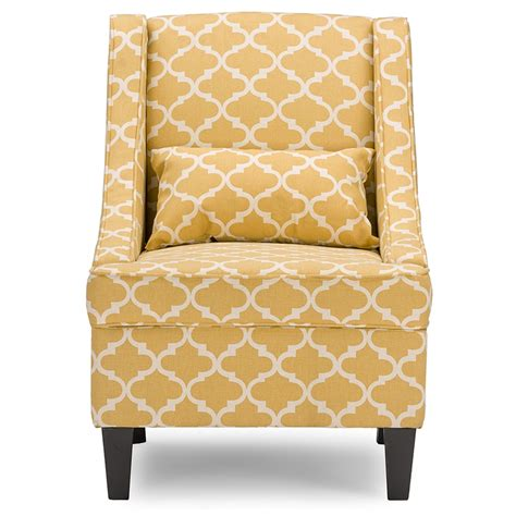 yellow patterned armchair baxton studio lotus contemporary fabric armchair yellow