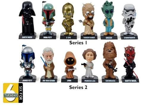 big 6 bobbleheads funko wars bobble heads 6 pack