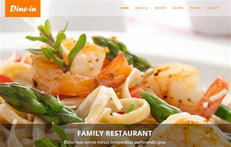 restaurant bootstrap template restaurant html5 template free by webthemez