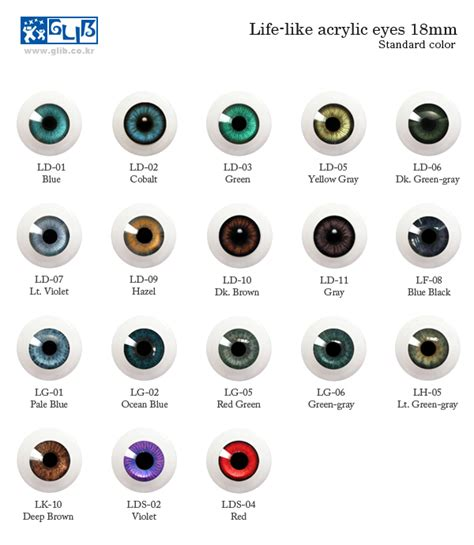 eye colors list g18ld 02 dolk station bjd shop