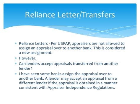 Appraisal Reliance Letter Navigating The Appraisal Process