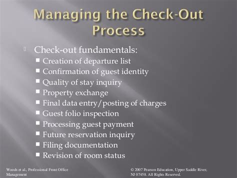 Check In Procedure In Front Desk by Check Out Procedure