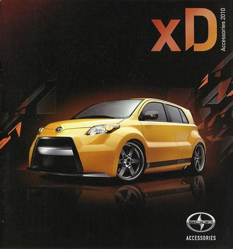 2010 scion xd parts accessories brochure catalog toyota