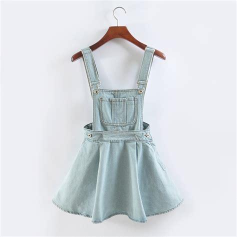 popular denim skirt with suspenders buy cheap denim skirt