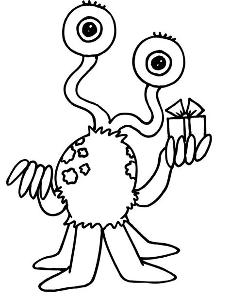 space monster coloring page 33 best aliens images on pinterest aliens coloring