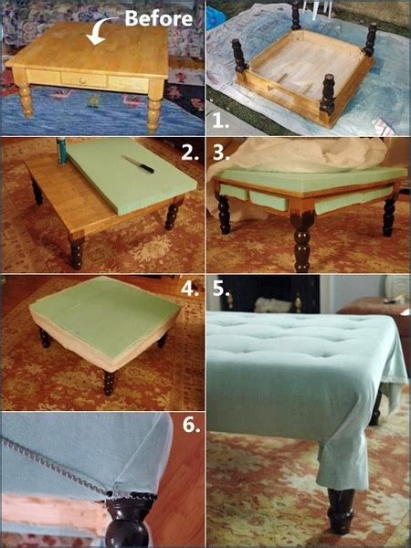 Diy Ottoman Coffee Table Diy Coffee Table To Ottoman Diy