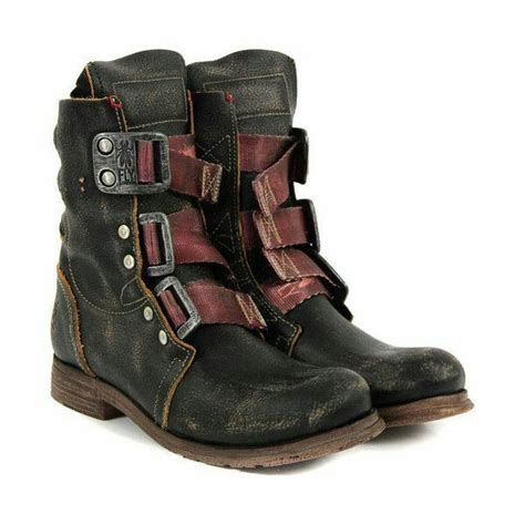 shoes combat boots post apocalyptic leather boots vintage boots wheretoget