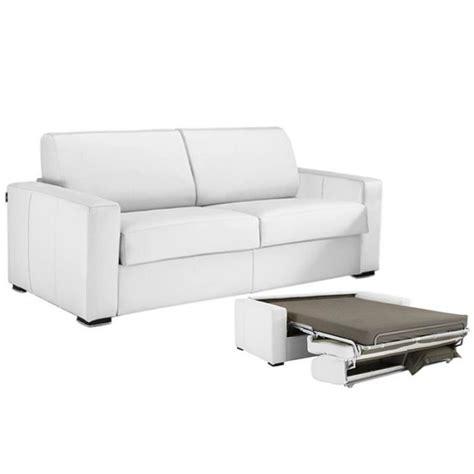 canape cuir blanc convertible canap 233 convertible cuir vachette blanc 140 achat