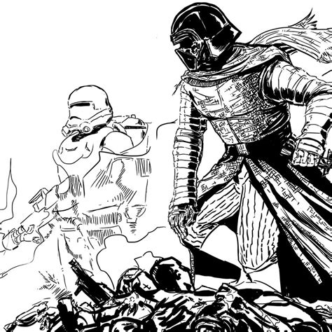 coloring pages kylo ren kylo ren wip episode 2 by pacoespinoza on deviantart