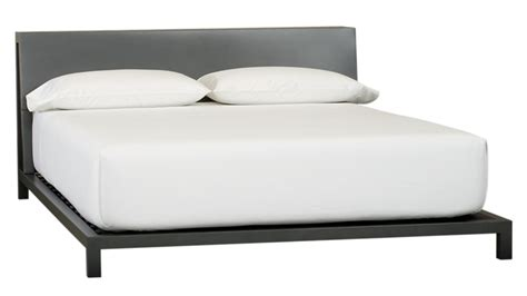 cb2 headboard alpine gunmetal queen bed cb2