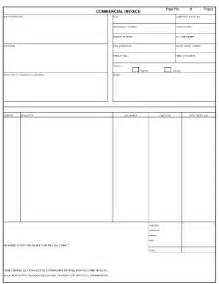 writable invoice template commercial invoice template fill printable