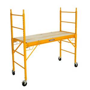 werner 6 ft steel rolling scaffold lowe s canada