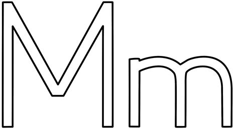 o m template letter m coloring page alphabet