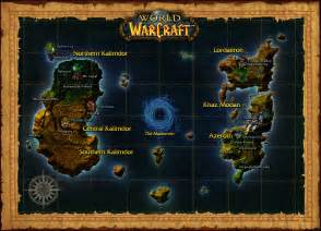 Map Of World Of Warcraft by World Of Warcraft Map An Awesome Wow Blog