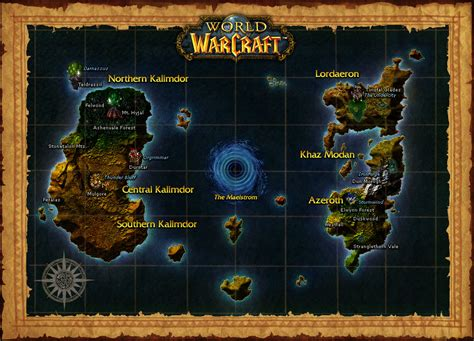 wow map world of warcraft map an awesome wow