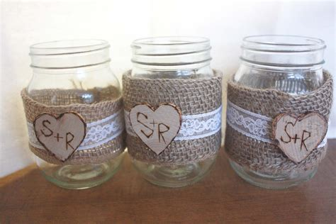 Decorating Jars by Hometalk Five Ways To Decorate Jars Shabby Chic Jars Decorated With Burlap Lace And