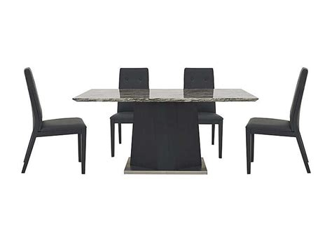 dining table and leather chairs monaco dining table and 4 faux leather dining chairs