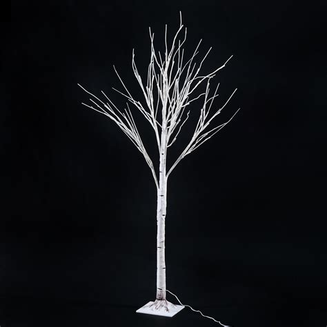 Light Up Tree - homcom 59 1 quot 48 led light up indoor accent birch