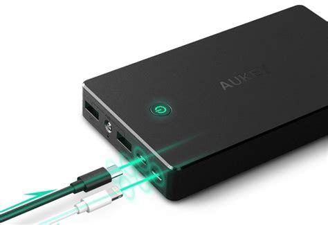 Powerbank Apple 20 000 Mah aukey powerbank mit 20 000 mah und lightning eingang f 252 r