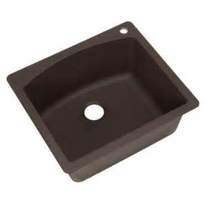 Brown Kitchen Sinks Blanco Dual Mount Granite Composite 25 In 1 Single Bowl Kitchen Sink In Cafe Brown