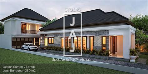 desain garasi dua mobil desain rumah 2 lantai luas 380m2 bp roni di sumsel jasa
