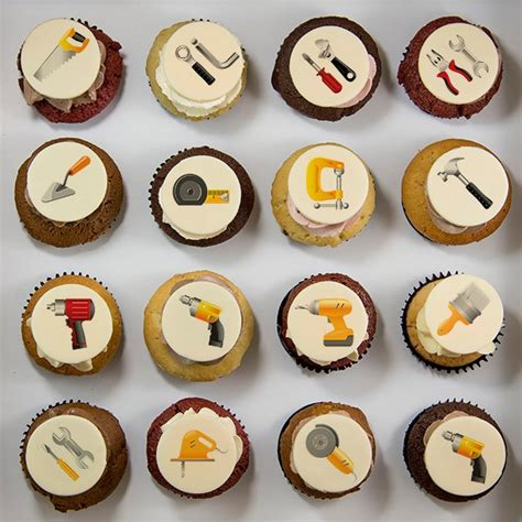 fathers day cupcakes s day cupcakes with tools illustrations