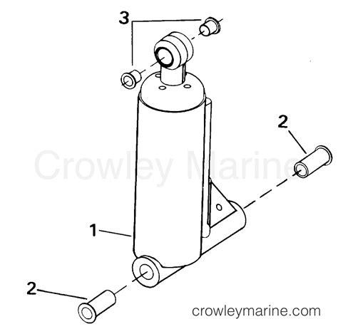 cylinder section tilt assist cylinder 1993 evinrude outboards 40 ve40eetb