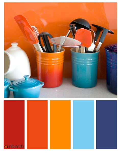 designer color palettes blue and orange interior design for colorful decor your