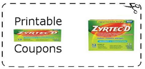 printable zyrtec coupon printable zyrtec coupons printable grocery coupons
