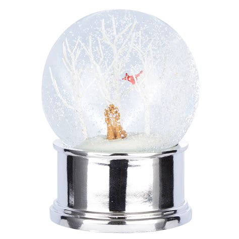 dog musical snow globe by the christmas home