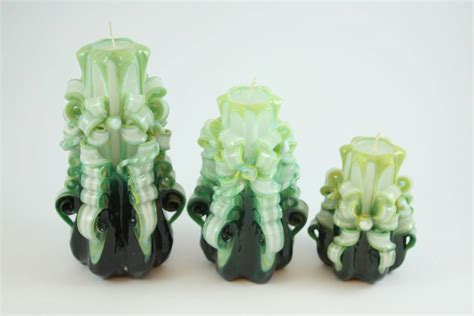 candele intagliate candela intagliata nastro verde oliva candele shop