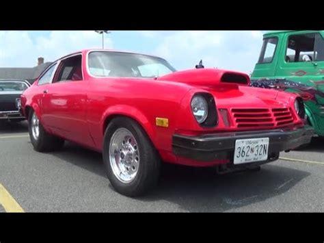 blown tubbed black v8 1974 chevrolet with 1972 nose a 73 prostreet turbo gt burnout w nitrous pro str