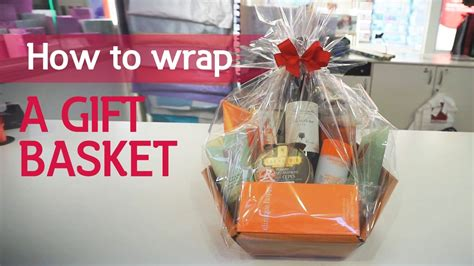 how to wrap a gift basket youtube