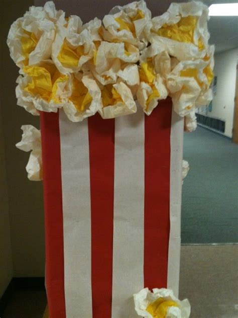 How To Make A Paper Popcorn Box - best 25 popcorn decorations ideas on circus
