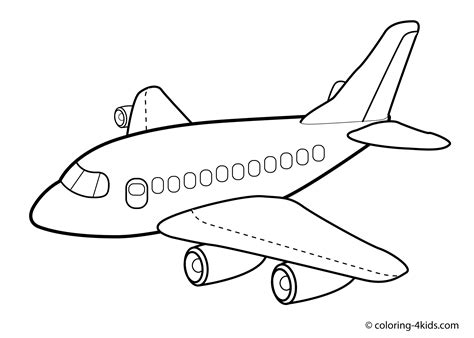 free airplane jet coloring pages