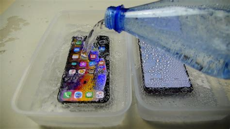 iphone xs vs samsung galaxy s9 sparkling water freeze test which will survive