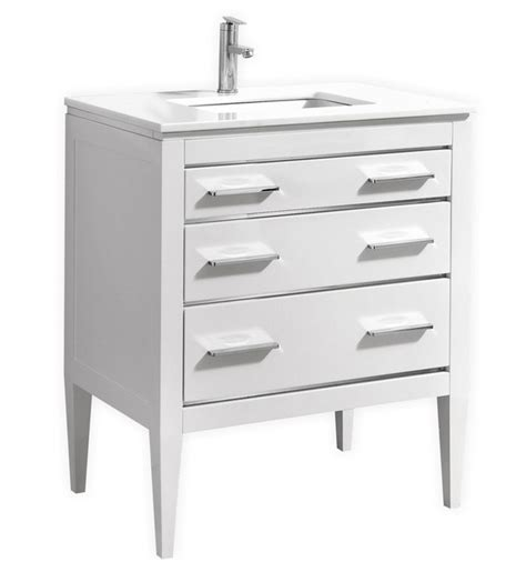 30 white bathroom vanity with top 30 inch contemporary bathroom vanity white glossy finish