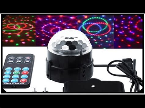 led rgb disco ball with remote control music sensitive