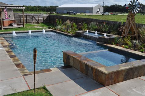 pool and spa designs this southwest style rustic pool and spa features