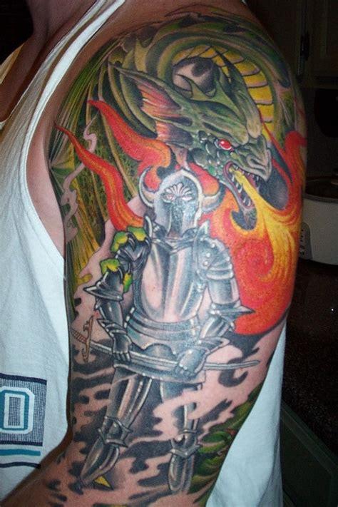 tattoo dragon knight dragon and knight tattoo picture