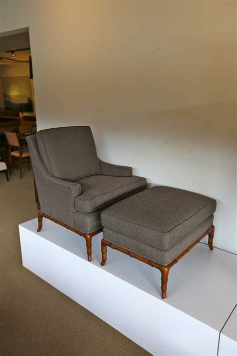 faux bamboo lounge chair and ottoman at 1stdibs faux bamboo lounge chair and ottoman at 1stdibs