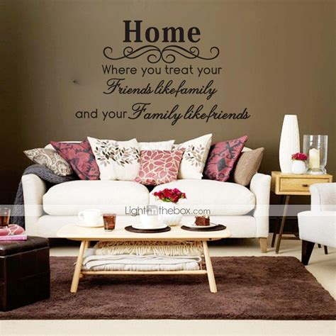 spiritual home decor wall stickers wall decals family friends english words
