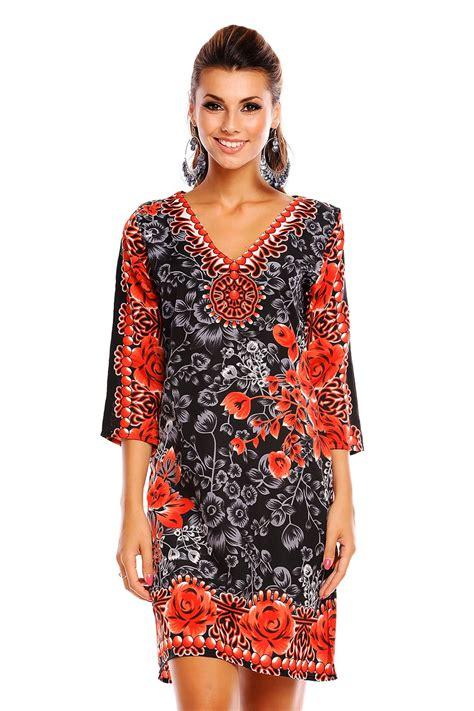 Azwa Ethnic Sifon Midi Dress looking glam tribal print kaftan tunic summer top midi dress ebay