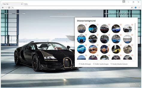 chrome web store themes lamborghini cars