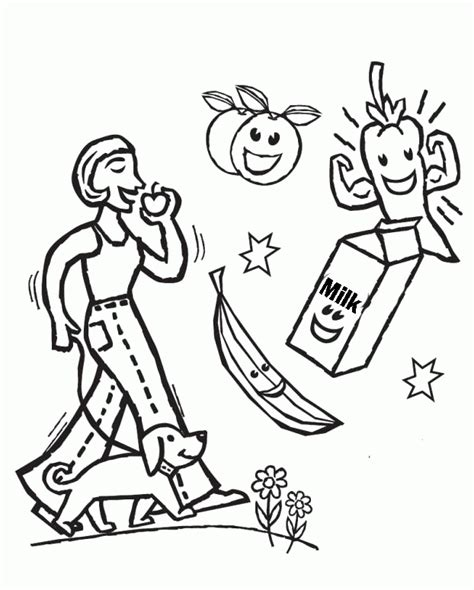 food coloring pages for kids coloring home healthy food coloring pages for kids coloring home