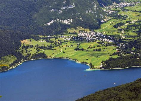 slovenia lake lake bohinj in slovenia gorenjska slovenian alps