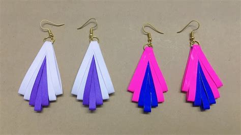 How To Make Easy Paper Earrings At Home - how to make paper earrings paper jewellery paper